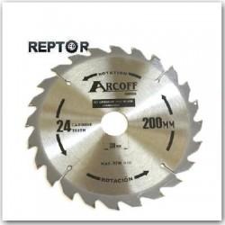 piła tarczowa Arcoff 160mm z redukcjami 16/20/30mm zębów 24