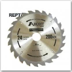 piła tarczowa Arcoff 250x30 zębów 24