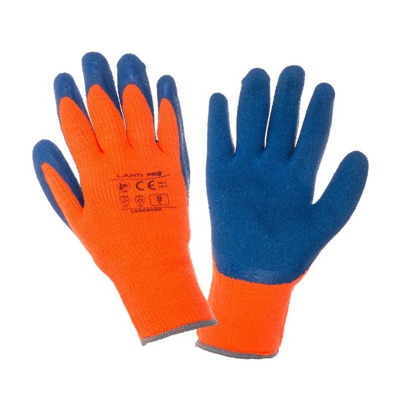rękawice lateksowe ocieplane na zimę