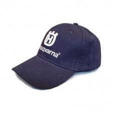 Granatowa czapka Husqvarna